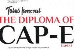 Диплом про завершенню курсу CAPS-E (Civil and political school)